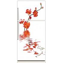Sticker frigo Orchidée reflet 70x170cm