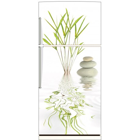 Sticker frigo bambou galet 70x170cm