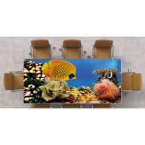 Nappe déco imprimée poissons réf 2526