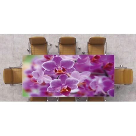 Nappe déco imprimée Orchidée Mauve réf 2529