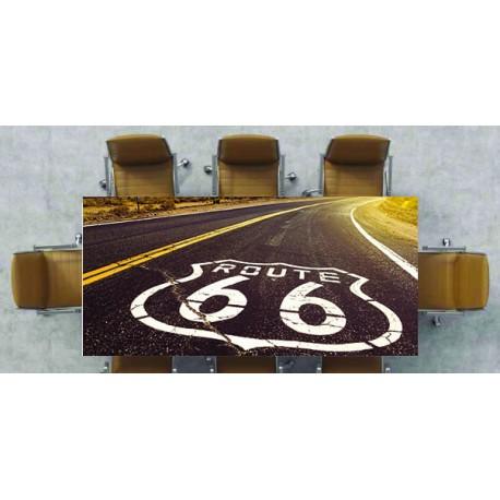 Nappe déco imprimée logo route 66 & route