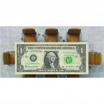 Nappe déco imprimée 1 dollar