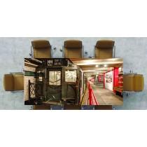 Nappe déco imprimée vieux train dans gare réf 2540