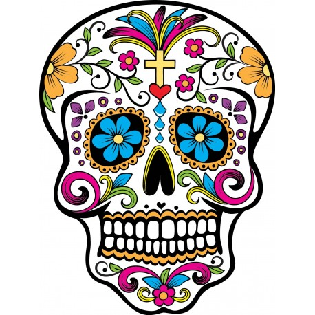 stickers t te de mort mexicaine art d co stickers. Black Bedroom Furniture Sets. Home Design Ideas