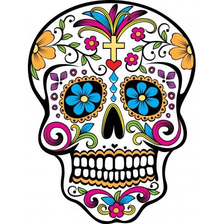 Stickers Tête de mort mexicaine
