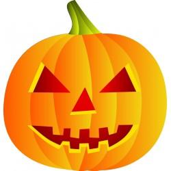 Stickers citrouille Halloween