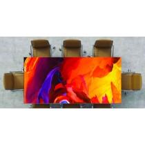 Nappe déco imprimée fractal de couleur ocre réf 2547