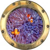 Sticker hublot petits poissons
