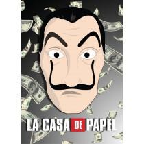 Stickers Masque Casa de Papel avec fond