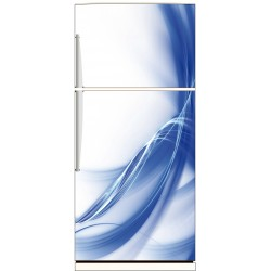 Sticker frigo Design bleu 70x170cm