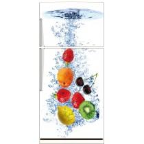 Sticker frigo déco fruits 70x170cm