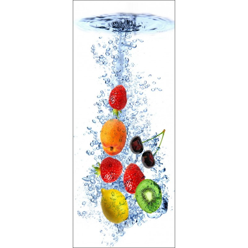 sticker frigo d co cuisine fruits art d co stickers. Black Bedroom Furniture Sets. Home Design Ideas