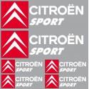 6 Stickers autocollants logo Citroen sport blanc