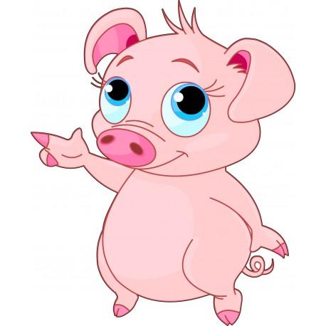 Sticker enfant petit Cochon