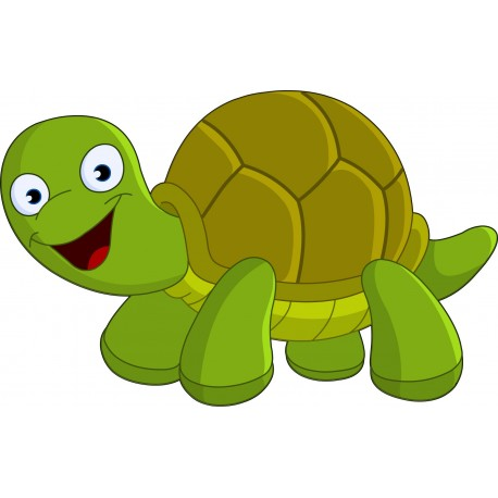 Sticker enfant tortue art d co stickers - Image tortue rigolote ...