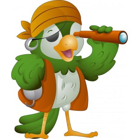 Sticker enfant Perroquet Pirate
