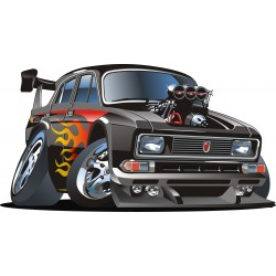 Sticker enfant auto tuning