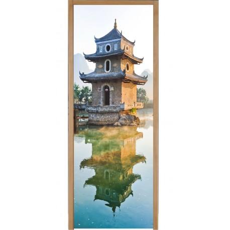 Sticker porte plane Temple