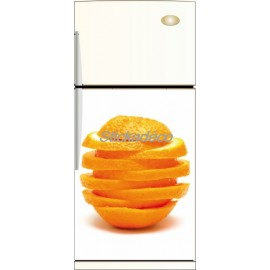 Sticker frigidaire Tranche d'orange