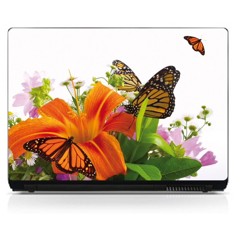 stickers pc ordinateur portable papillons art d co stickers. Black Bedroom Furniture Sets. Home Design Ideas