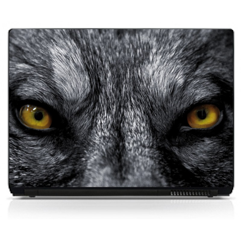 stickers pc ordinateur portable yeux de loup art d co. Black Bedroom Furniture Sets. Home Design Ideas
