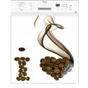Sticker lave vaisselle I Love Café ou magnet lave vaisselle