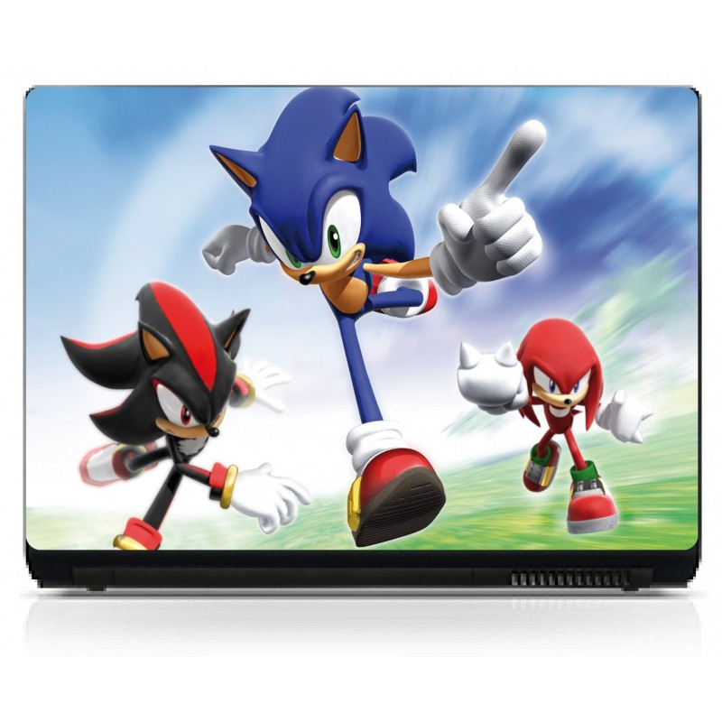 sticker pc portable sonic art d co stickers. Black Bedroom Furniture Sets. Home Design Ideas