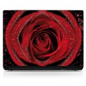 Sticker pc portable Rose rouge
