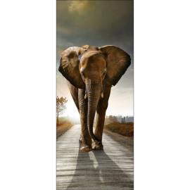 Sticker pour porte plane Eléphant