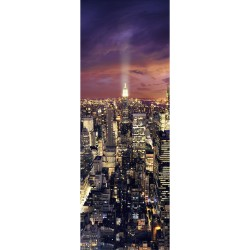 Sticker pour porte plane New York