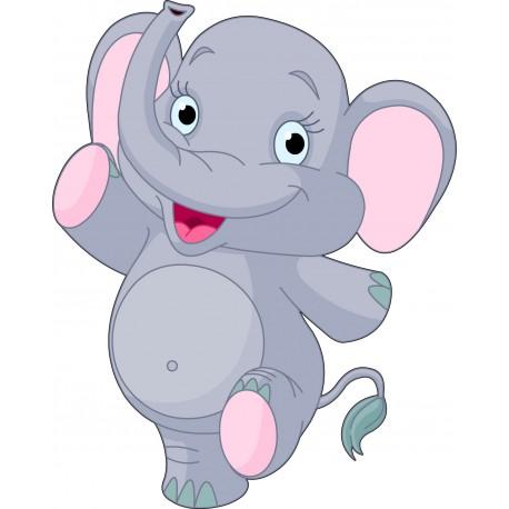 Sticker chambre d'enfant Bébé Eléphant