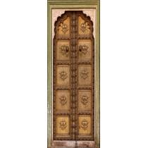 Sticker vielle porte orientale trompe l'oeil