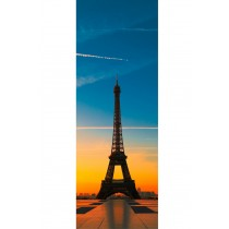 Sticker porte trompe l\'oeil Tour Eiffel