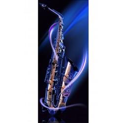 Sticker déco frigo Saxophone 70x170cm