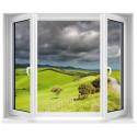 Sticker trompe l'oeil fenêtre Paysage