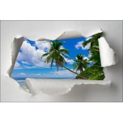 Sticker Trompe l'oeil palmier