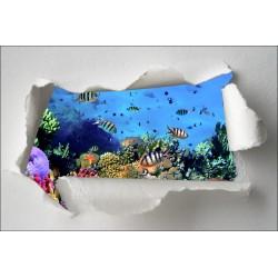 Sticker Trompe l'oeil petits poissons