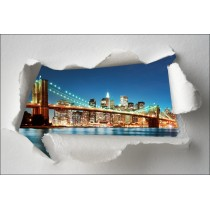 Sticker Trompe l'oeil Pont de Brooklyn