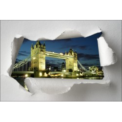 Sticker Trompe l'oeil Londres