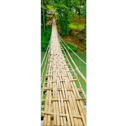 Sticker porte, sticker pour porte passerelle bambou