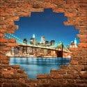 Sticker mural trompe l'oeil New York Brooklyn
