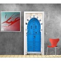 Sticker de porte trompe l'oeil déco porte orientale