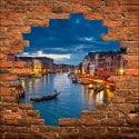 Sticker mural trompe l'oeil Venise