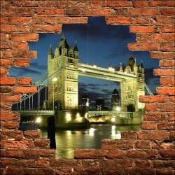 Sticker mural trompe l'oeil London Bidge