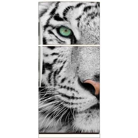 Sticker frigo électroménager déco cuisine tigre 70x170cm