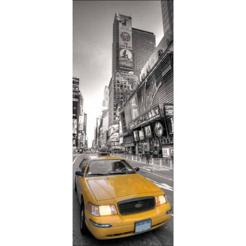 Sticker frigo lectrom nager d co cuisine new york taxi for Deco taxi new york