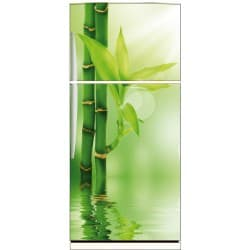 Sticker frigo électroménager déco cuisine Bambous 70x170cm