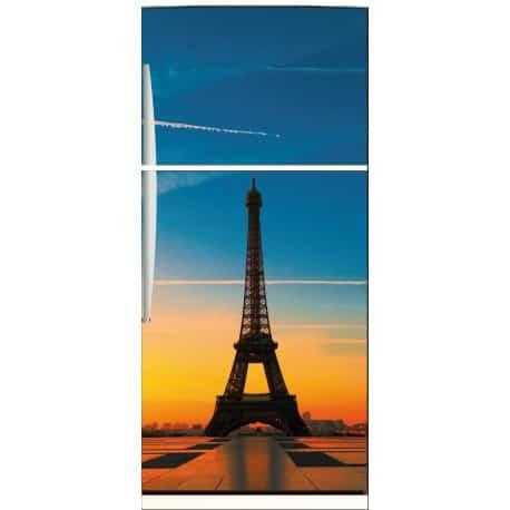 Sticker frigo électroménager déco cuisine Tour Eiffel 70x170cm