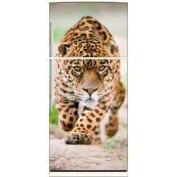 Sticker frigo électroménager déco cuisine Jaguar 70x170cm