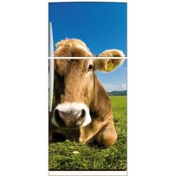 Sticker frigo électroménager déco cuisine Vache 70x170cm